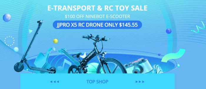 Drony, RC auta a elektrokoloběžky ve slevě