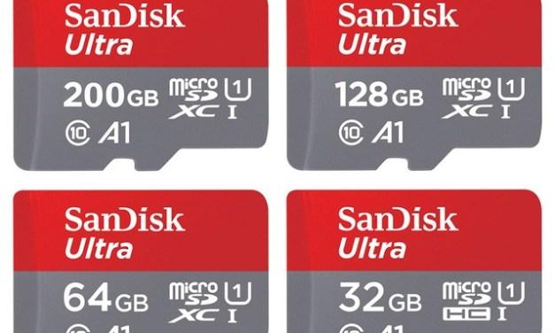 MicroSD karta SanDisk Ultra 128 GB jen za 21,79$