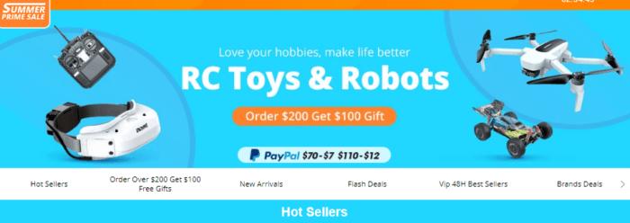 Velký výprodej plný dronů a RC modelů