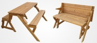 A Garden Bench That Unfolds Into A Picnic Table