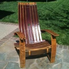 Adirondack Wine Barrel Chairs Hans Wegner Original Chair With Glass Holder