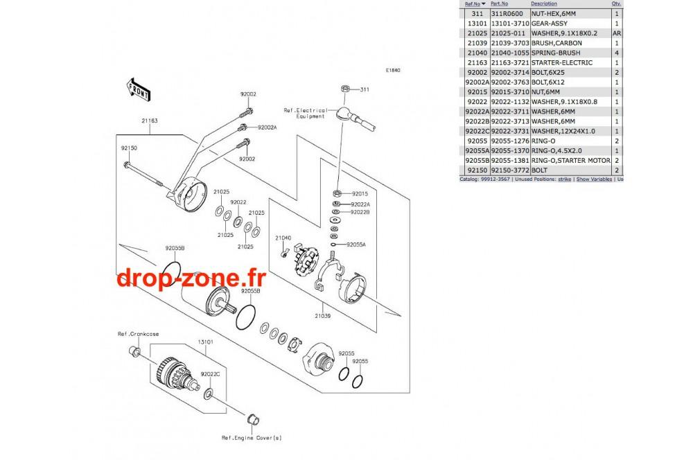 Démarreur STX-15F/ Ultra LX/ 310-R/ 310 LX/ 310-X/ 300-X