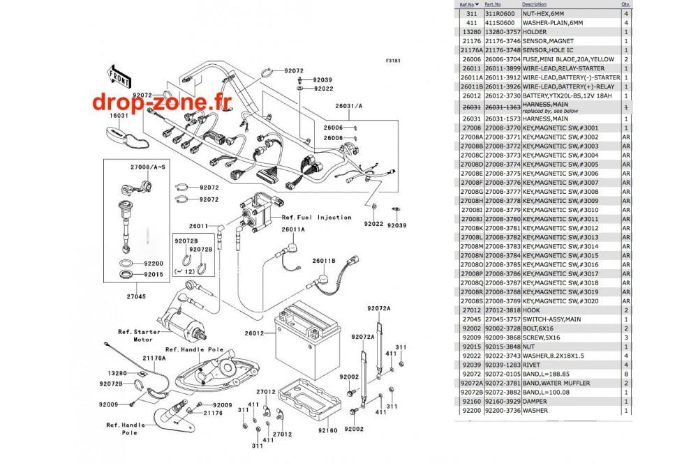 Equipement électrique STX-15F 13-14 › DROP ZONE UNLIMITED