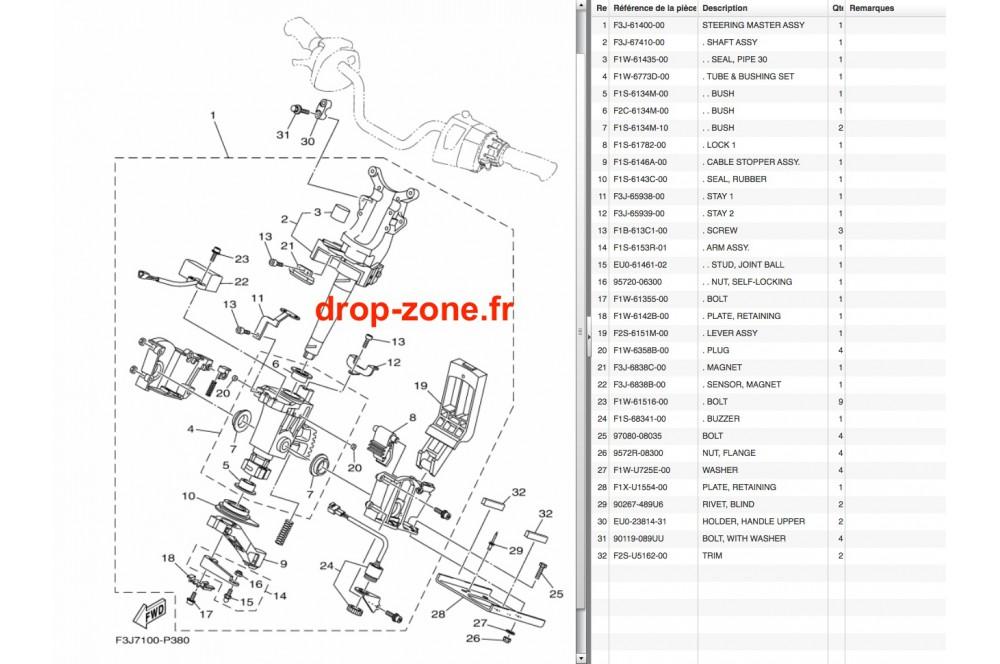 Colonne FX SVHO-Cruiser 15-16/ FX HO-Cruiser 15-16/ FX SHO