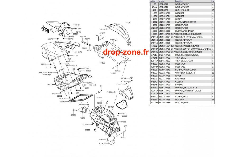 Coque milieu Ultra 310 LX 14-15 › DROP ZONE UNLIMITED