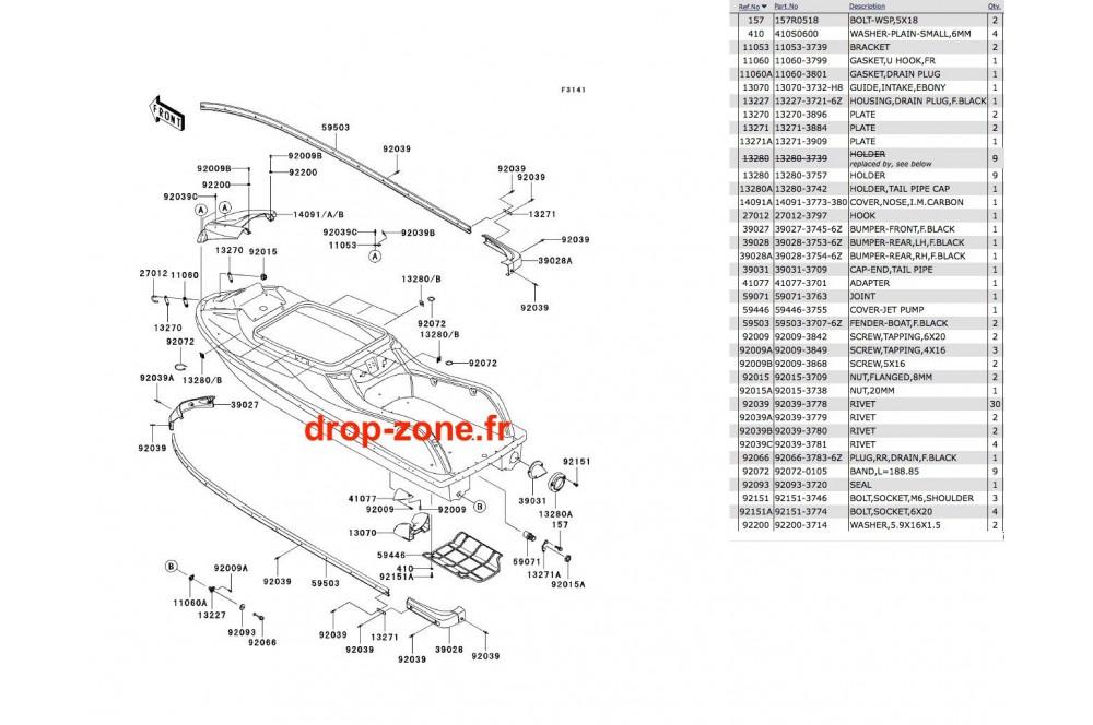 Coque SX-R 800 05-06 › DROP ZONE UNLIMITED