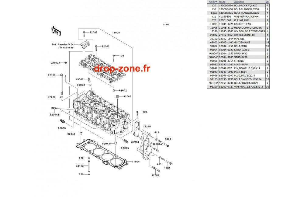Culasse Ultra 300-X 11-13/ Ultra 300 LX 11-13 › DROP ZONE
