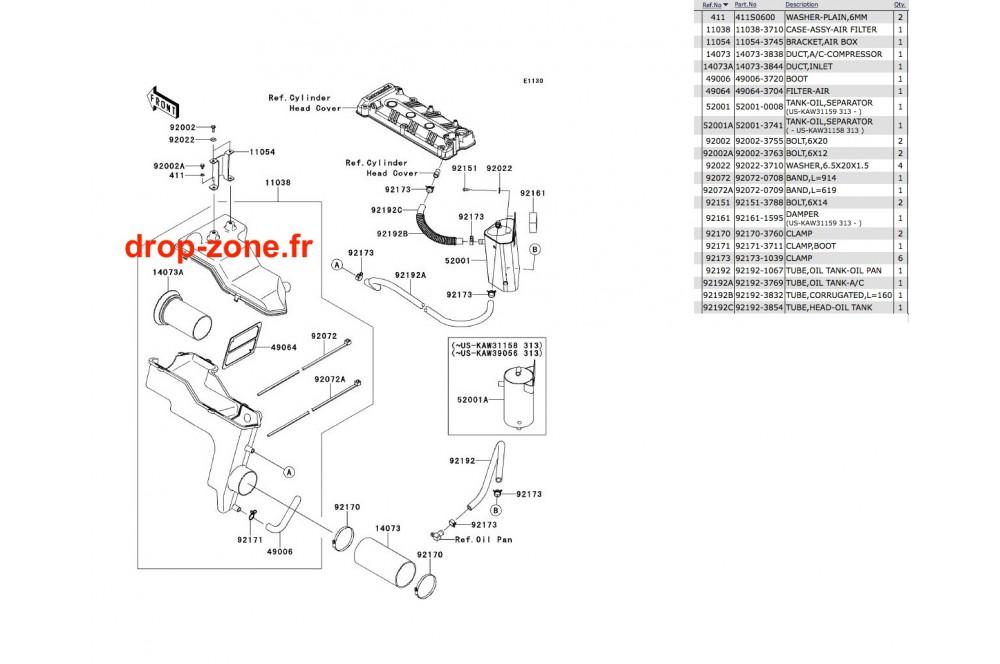 Filtre à air Ultra 300-X 11-13/ Ultra 300 LX 11-13 › DROP