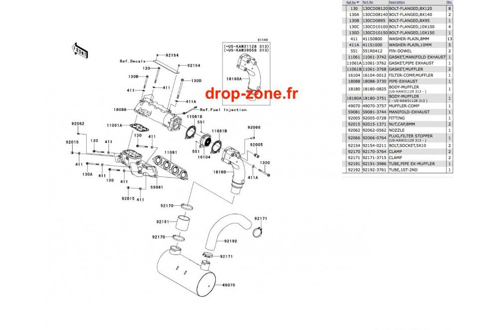 Echappement Ultra 300-X 11-13/ Ultra 300 LX 11-13 › DROP