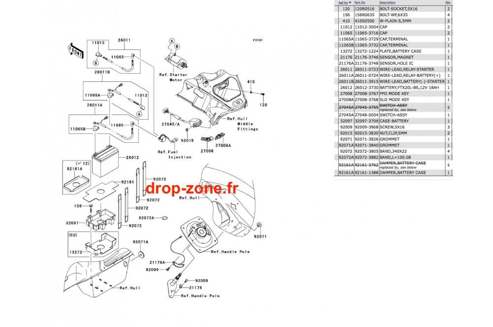Equipement électrique Ultra 300-X/ 300 LX 11-12 › DROP