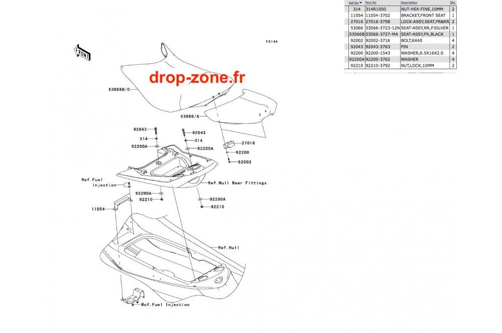 Selle Ultra 250-X 08/ Ultra 260-X 09 › DROP ZONE UNLIMITED