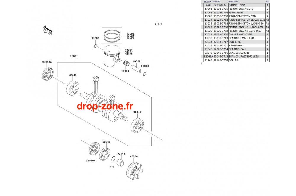 Vilebrequin/ Pistons SX-R 800 03-11/ X2-R 07 › DROP ZONE