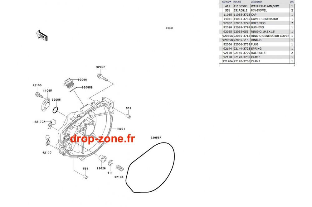 Couvercle moteur SX-R 800 04-11/ X2-R 800 07 › DROP ZONE