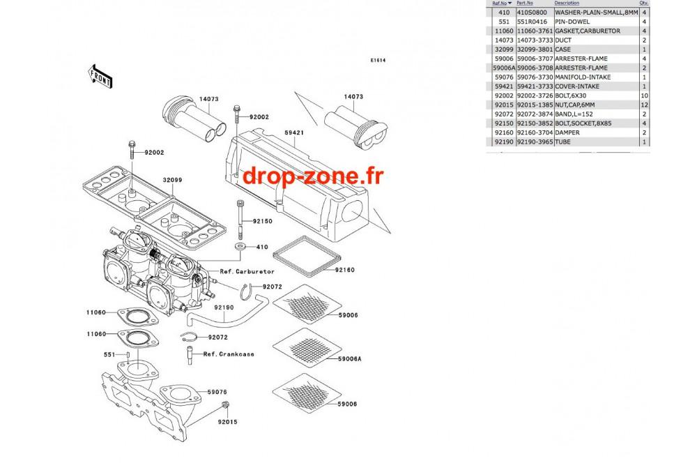 Filtre à air SX-R 800 03-11/ X2-R 800 07 › DROP ZONE UNLIMITED