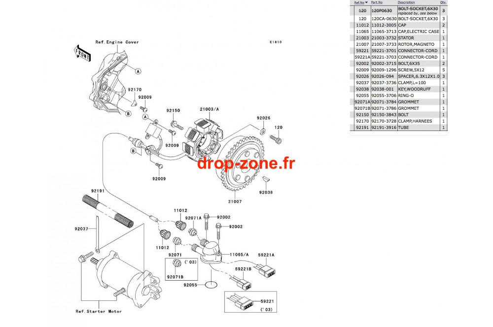 Générateur SX-R 800 03/ SXI PRO 00-02/ SXI 750 › DROP ZONE