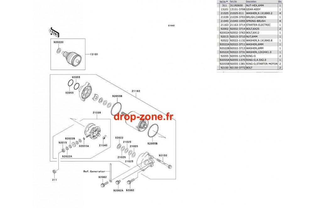 Démarreur SX-R 800 03-11/ X2-R 07/ SXI PRO 00-02/ SXI 750