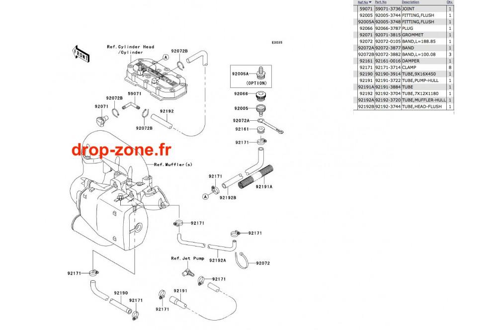 Refroidissement SX-R 800 04-11 › DROP ZONE UNLIMITED