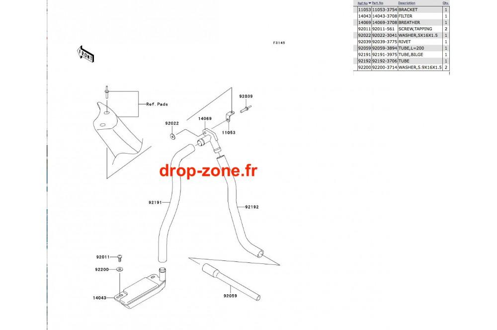 Système de cale SX-R 800 03-11 › DROP ZONE UNLIMITED