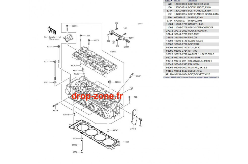 Culasse STX-15F 04-19/ Ultra LX 08-19/ SX-R 1500 17-19