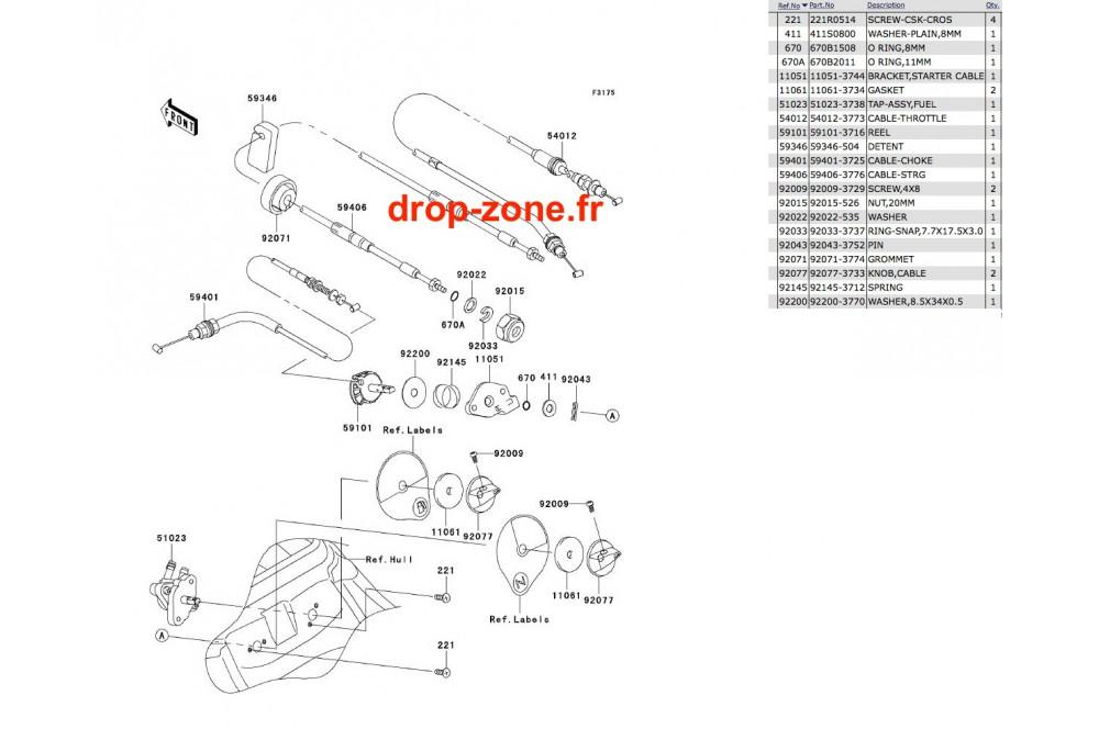 Câbles SX-R 800 03-11 › DROP ZONE UNLIMITED