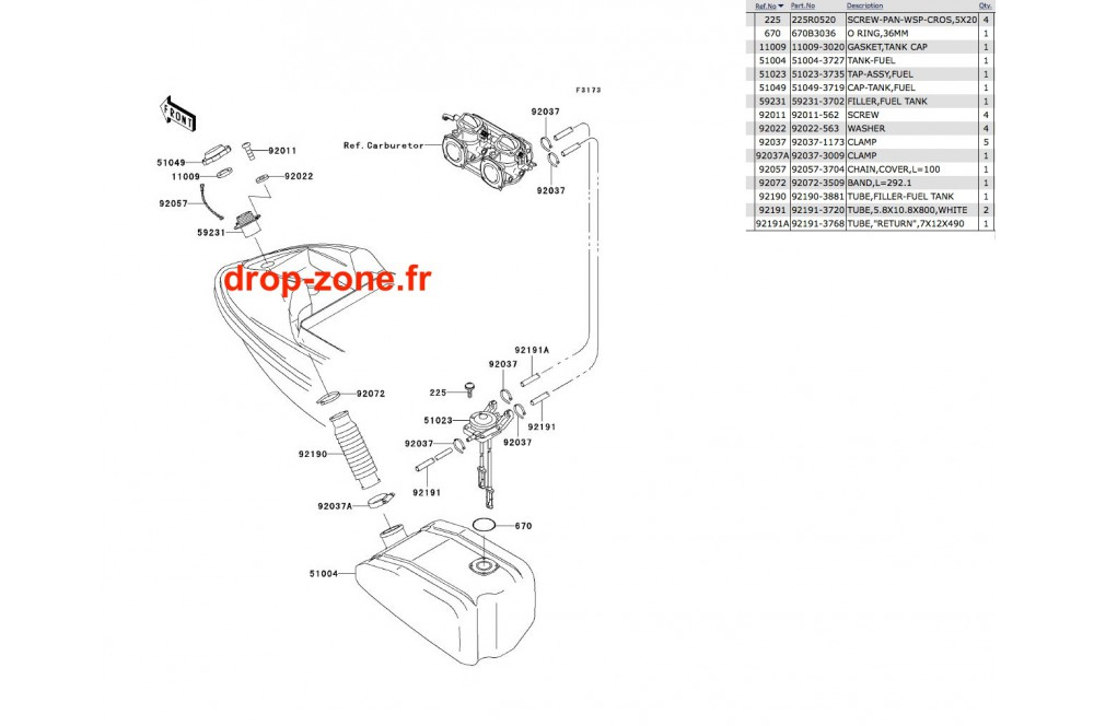 Réservoir carburant SXI PRO 00-02 › DROP ZONE UNLIMITED