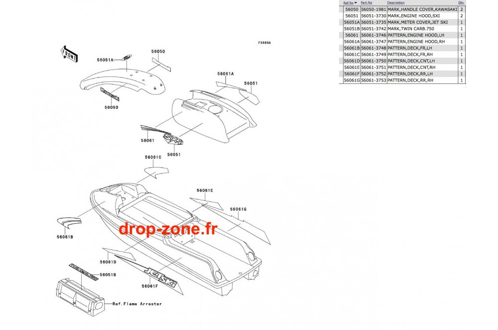 Stickers SXI 750 › DROP ZONE UNLIMITED