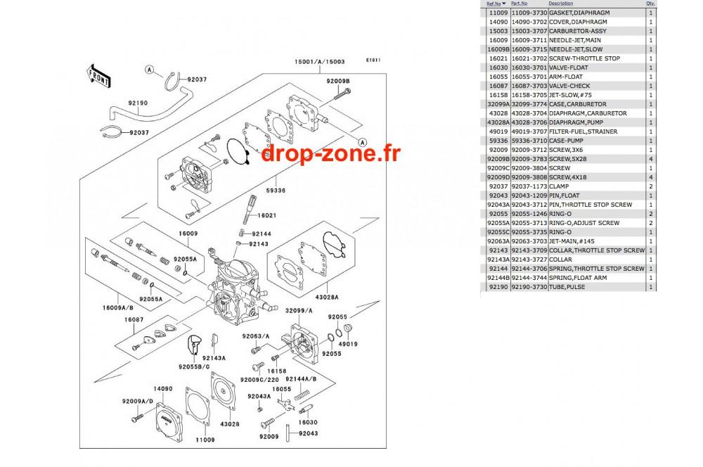 Carburateur SX 750 › DROP ZONE UNLIMITED