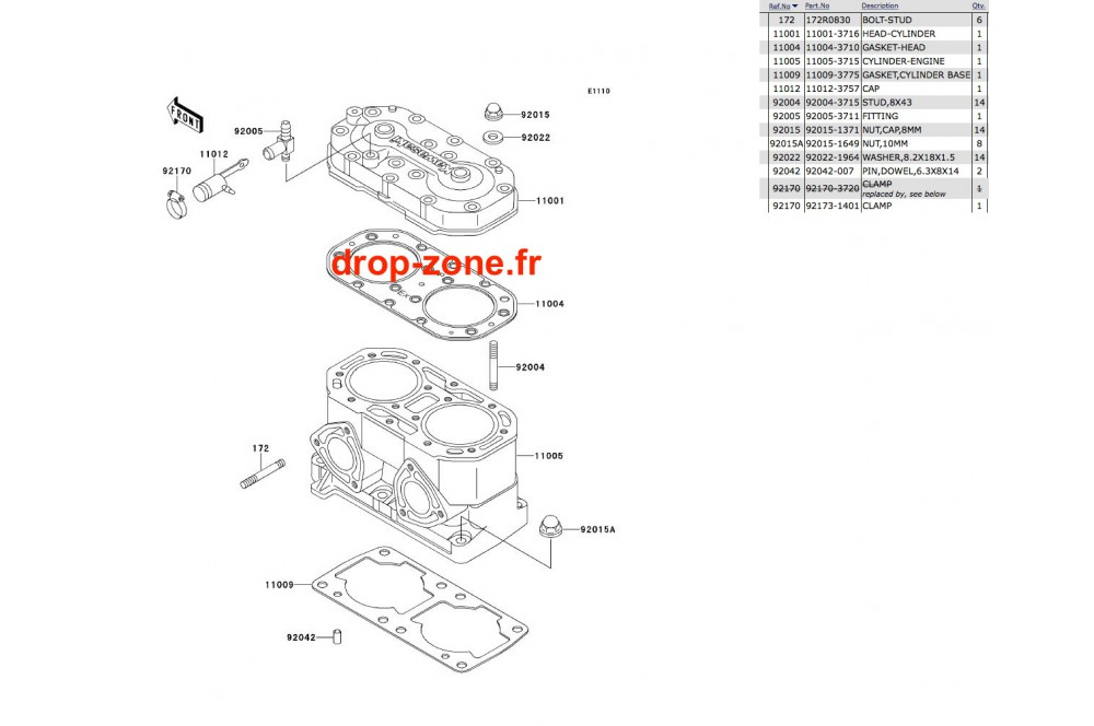 Cylindre/ Culasse SX 650 › DROP ZONE UNLIMITED