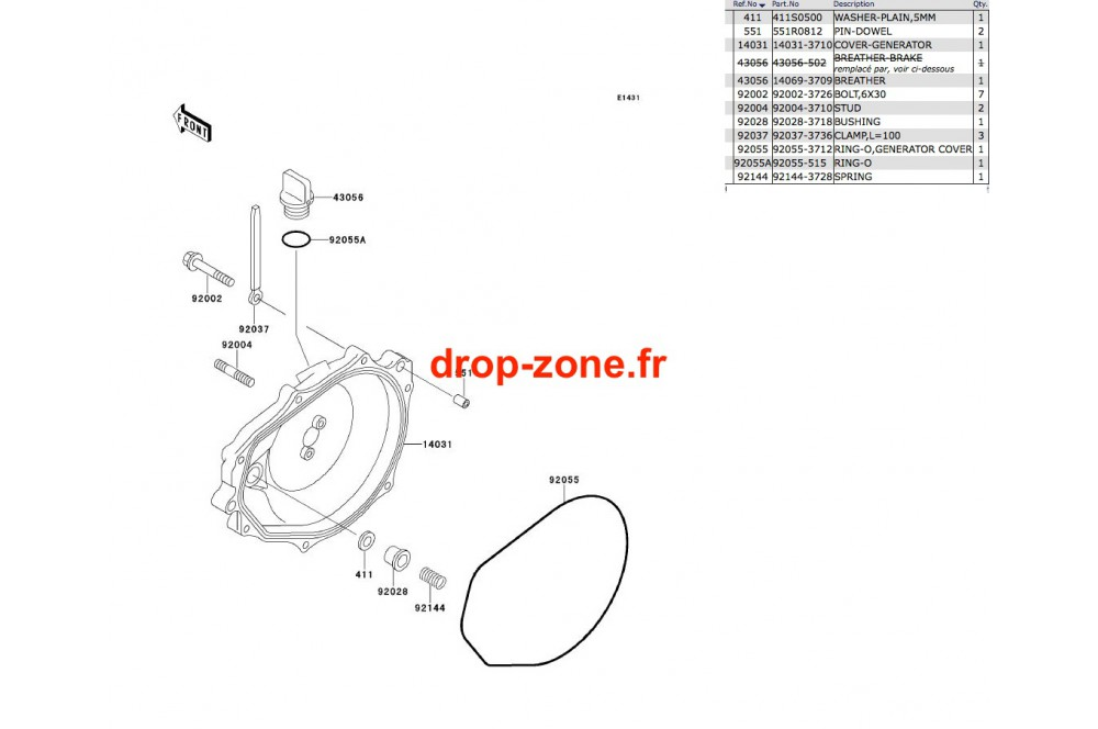 Couvercle moteur SX 650 93 › DROP ZONE UNLIMITED