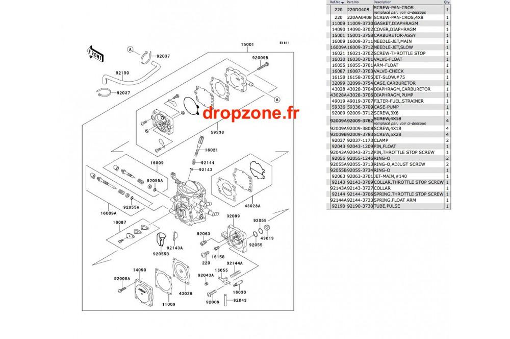 Carburateur SX 650 93 › DROP ZONE UNLIMITED