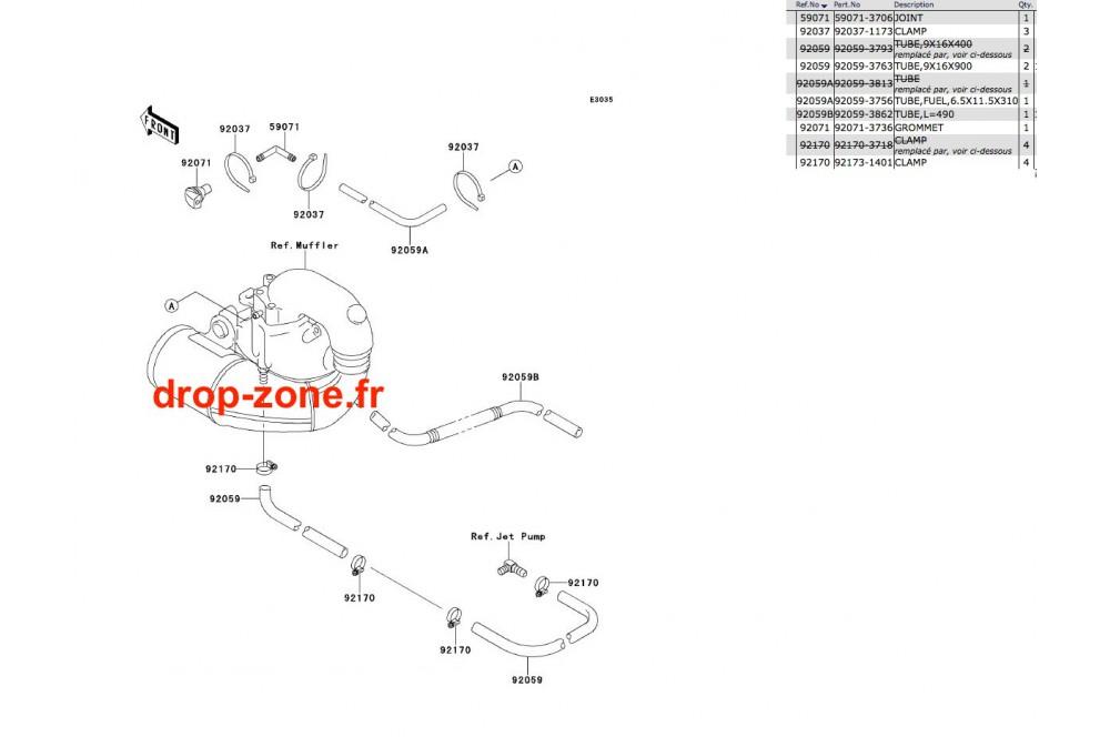 Refroidissement SX 650 93 › DROP ZONE UNLIMITED