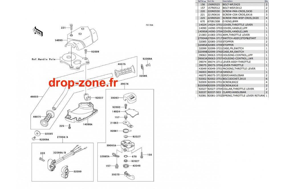 Guidon SX 650 93 › DROP ZONE UNLIMITED