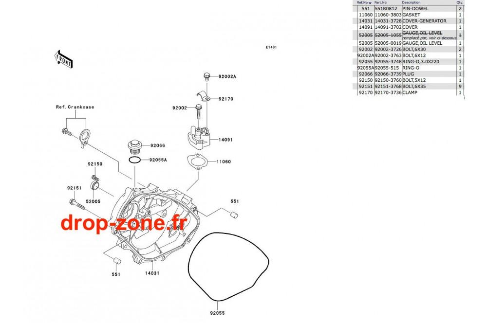 Couvercles moteur STX-R 1200 04/ Ultra 150 04 › DROP ZONE