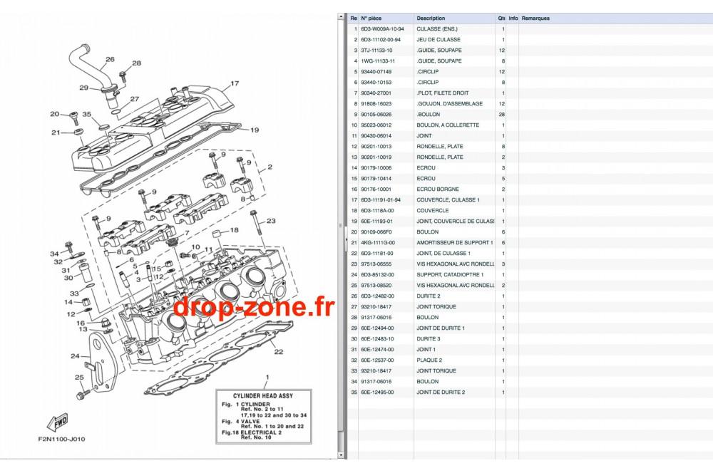 Culasse VX Cruiser 08-11/ VX Deluxe 08-11/ VX Sport 10-11