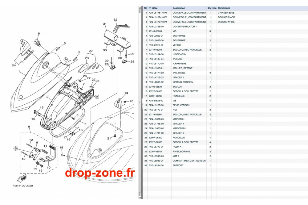 Capot VX Cruiser 11/ VX Deluxe 11 › DROP ZONE UNLIMITED