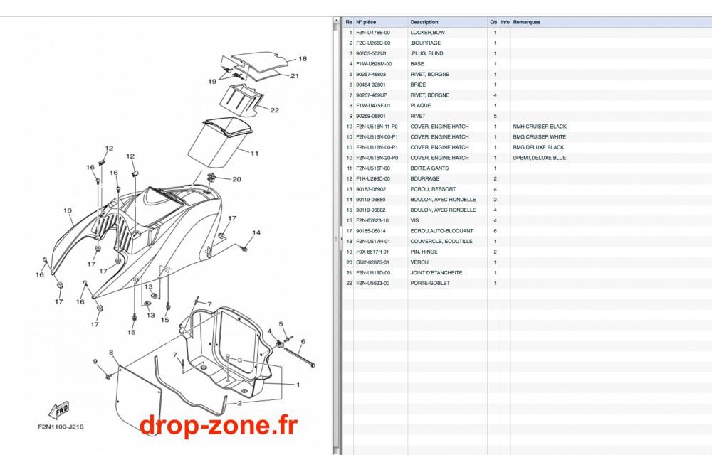Coque avant VX Cruiser 10/ VX Deluxe 10 › DROP ZONE UNLIMITED