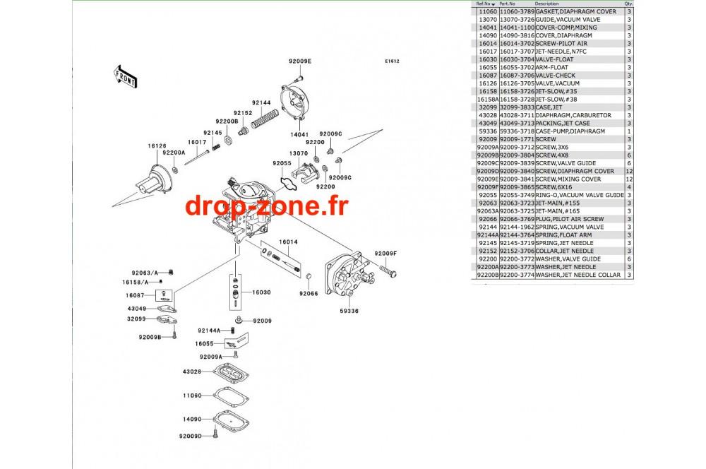 Pièces carburateur STX 900 06 › DROP ZONE UNLIMITED