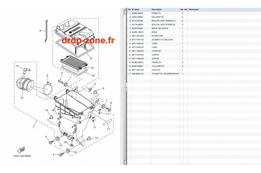 Filtre à air V1 Sport 16/ VX Deluxe 16-18/ VX Cruiser 16