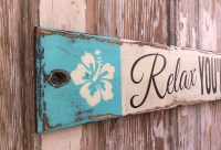 Relax. You're On Lake Time. Rustic 4 Foot Long Wood Sign ...