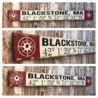 Custom GPS Coordinates Sign. Rustic 4 Foot Long Wood Sign ...