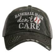 baseball hair don't care. women's