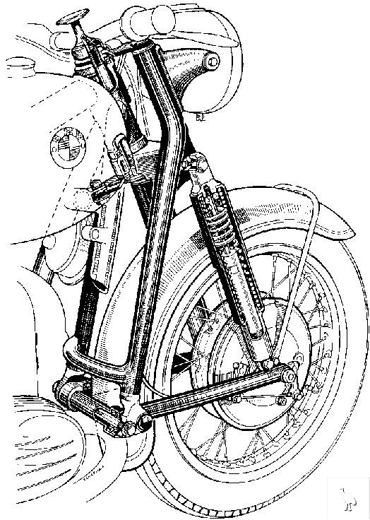 BMW Early Forks and Front Suspension