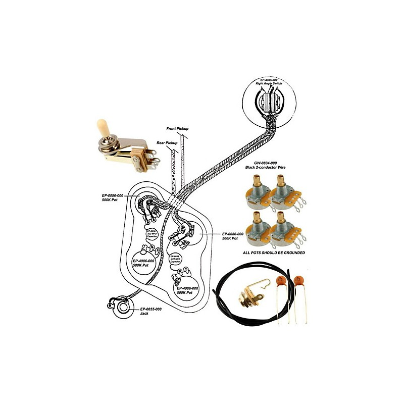 Allparts Wiring Kit for Gibson ES-335