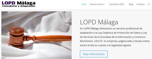 Rediseño de LOPD Málaga con WordPress 4.0