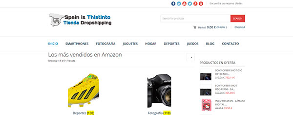 Tienda online con todos los productos de Amazon