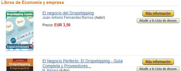 Nuestro libro sobre dropshipping reseñado en Amazon