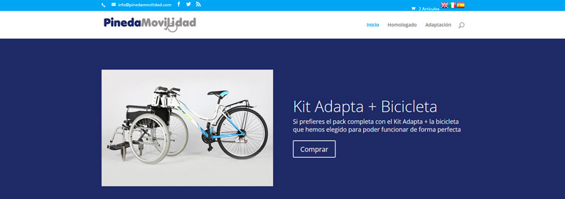 Rediseño WordPress y Woocommerce Pineda Movilidad