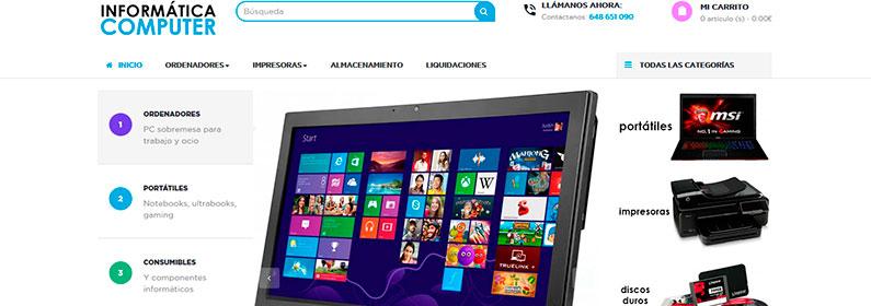 Tienda online informática con nuevo importador Globomatik