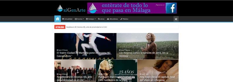 Diseño WordPress para portal de información cultural