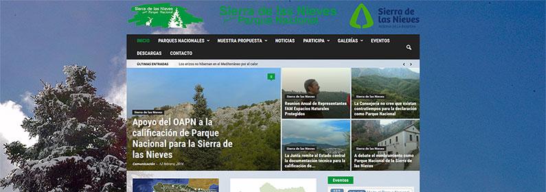 Portal con WordPress para Sierra de las Nieves